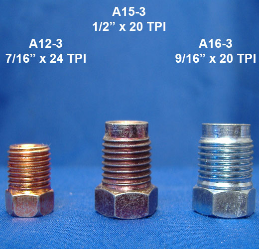 Identifying American thread brake nuts.